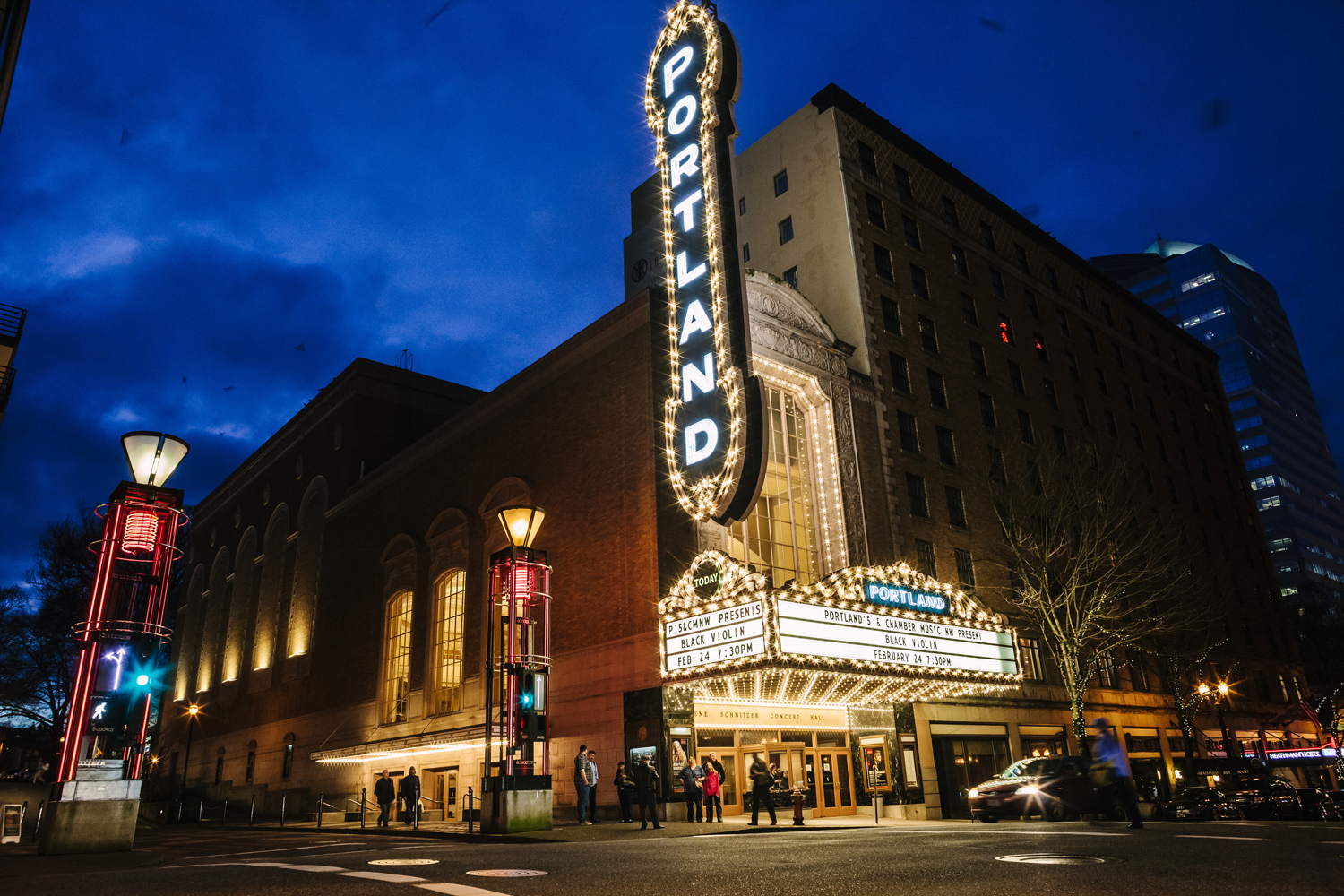 Historic Portland Sign At Arlene Schnitzer Concert Hall To Undergo - Portland schnitzer concert hall