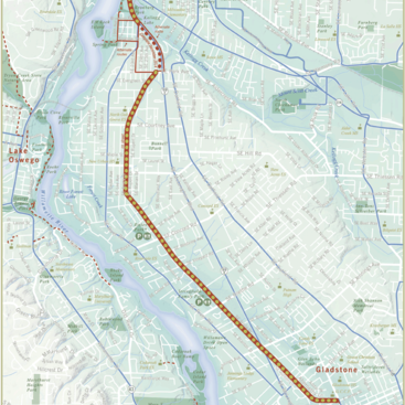map of the Trolley Trail