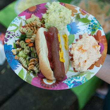 photo of a picnic plate