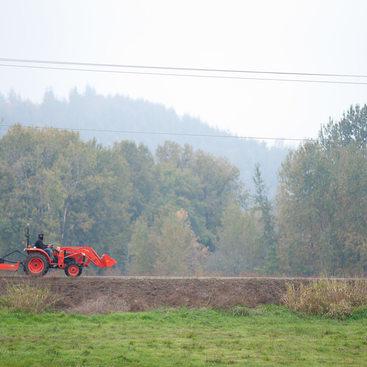 tractor on Sauvie Island