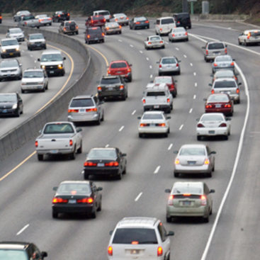 photo of cars on the freeway