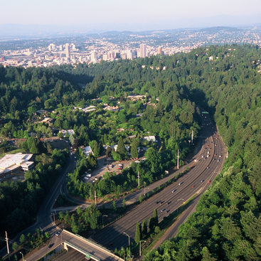 aerial photo of freeway