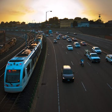 photo of the morning commute on I-84