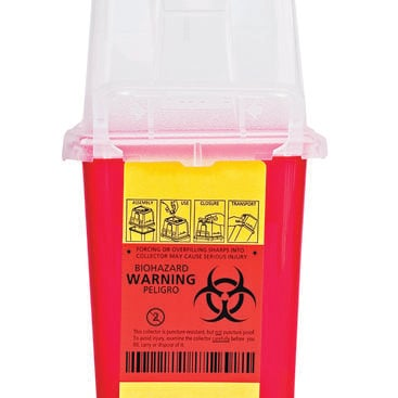 photo of a sharps container