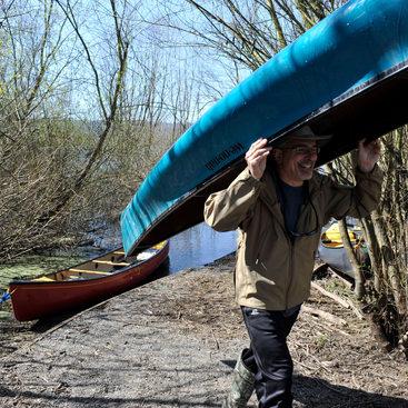 photo of Smith and Bybee canoeist
