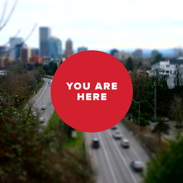 You are here: Sunset Highway, skyline