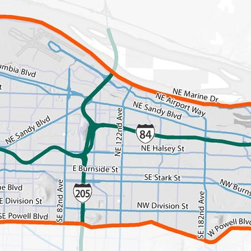 I-84 Multimodal integrated corridor management study area