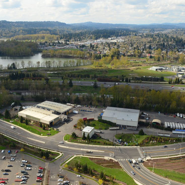 aerial photo of Metro South transfer station in Oregon City