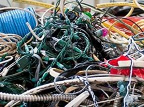 photo of tangled cords and wires