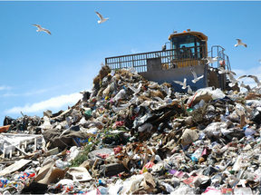 photo of a landfill