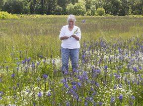 photo of Louise Wilmes at Quamash Prairie