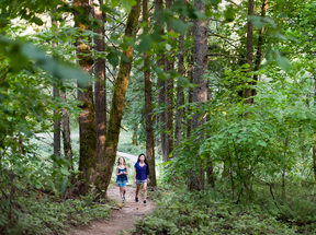 photo of two children hiking at Mount Talbert Nature Park
