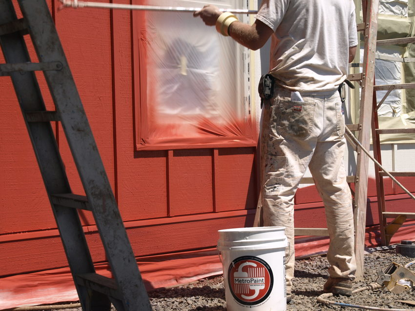 photo of a contractor using MetroPaint