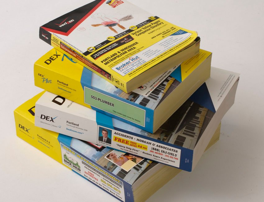 huge selection of 6b11e 9cdcc photo of a stack of phone books