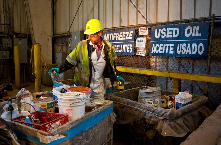photo of a hazardous waste facility employee