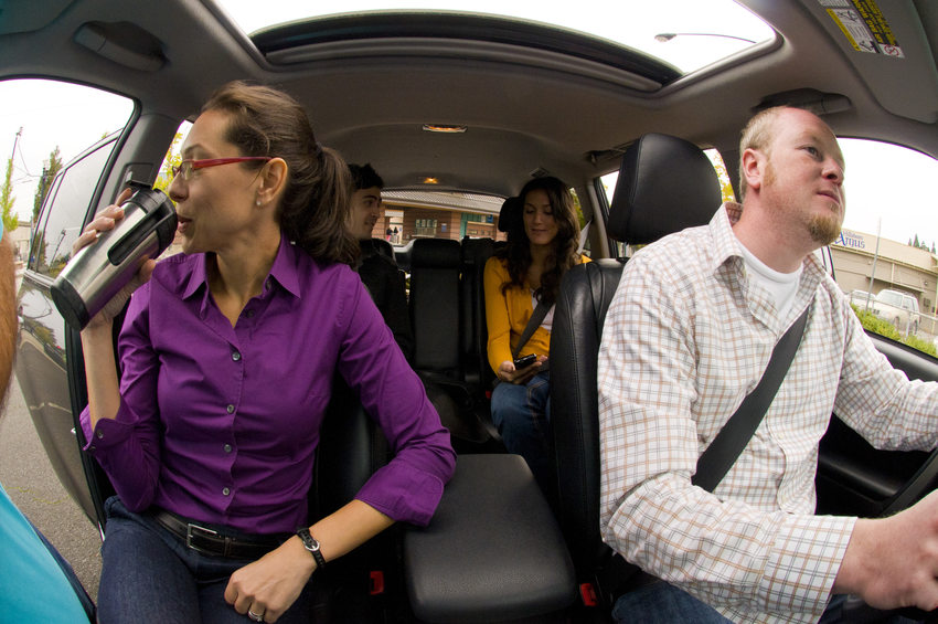 photo of people carpooling