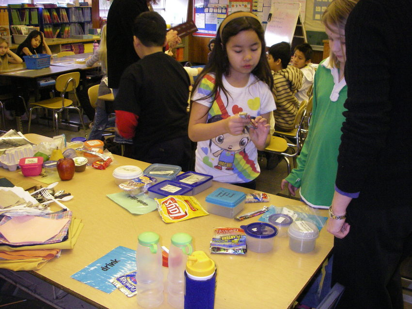 photo of kids investigating packaging