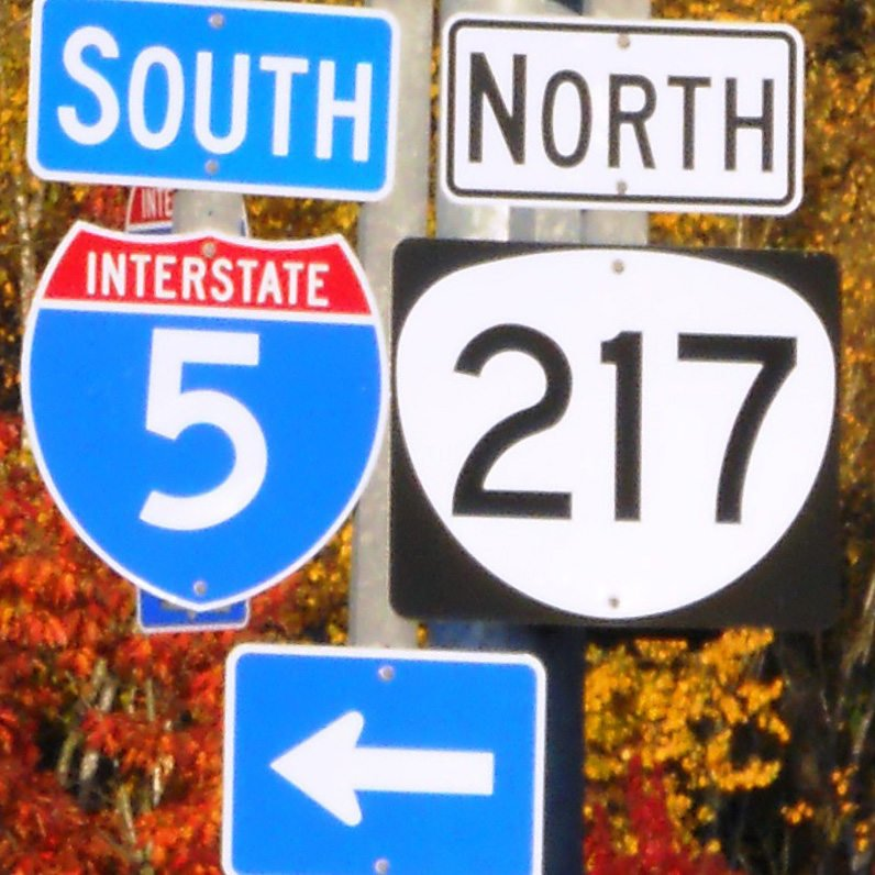 photo of freeway signs