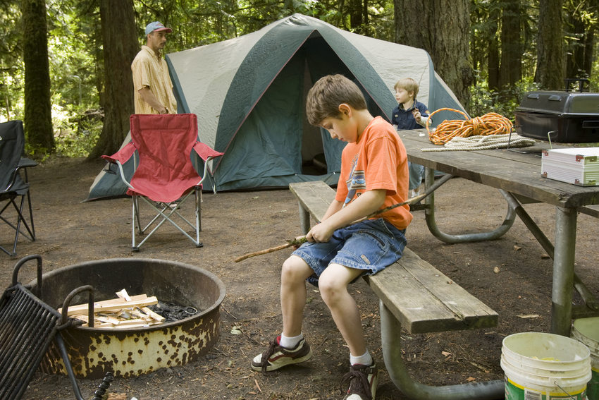 photo of camping at Oxbow Regional Park