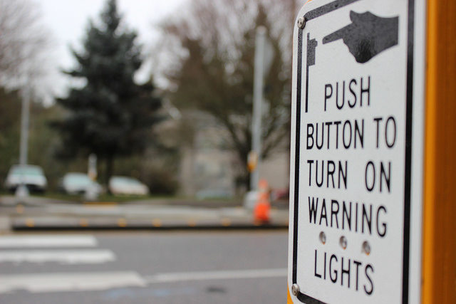 flashing beacon button