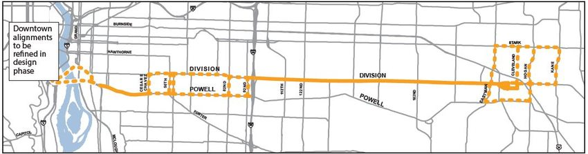 Options map for Powell-Division