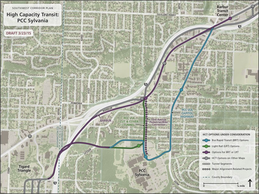 Map of HCT options for serving PCC Sylvania