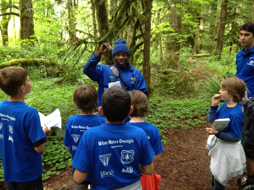 Troy Frison teaches at the Oregon Zoo's UNO program