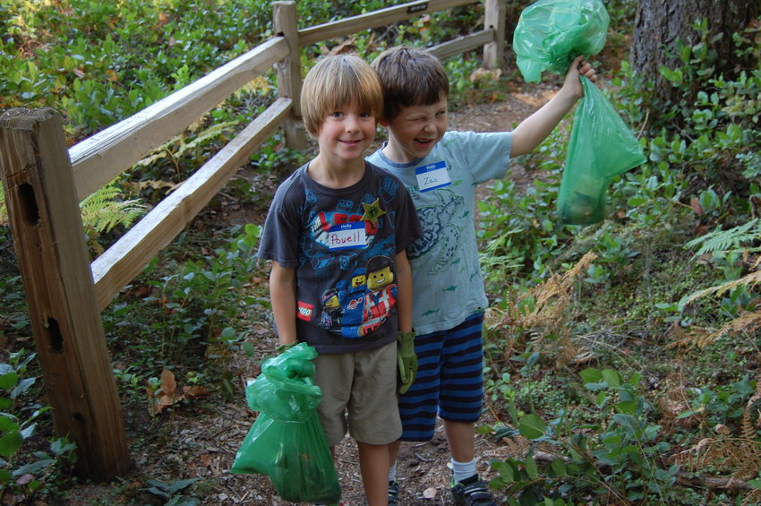 photo of Powell Jacob, 6, and friend Zac Flier at Oxbow Regional Park