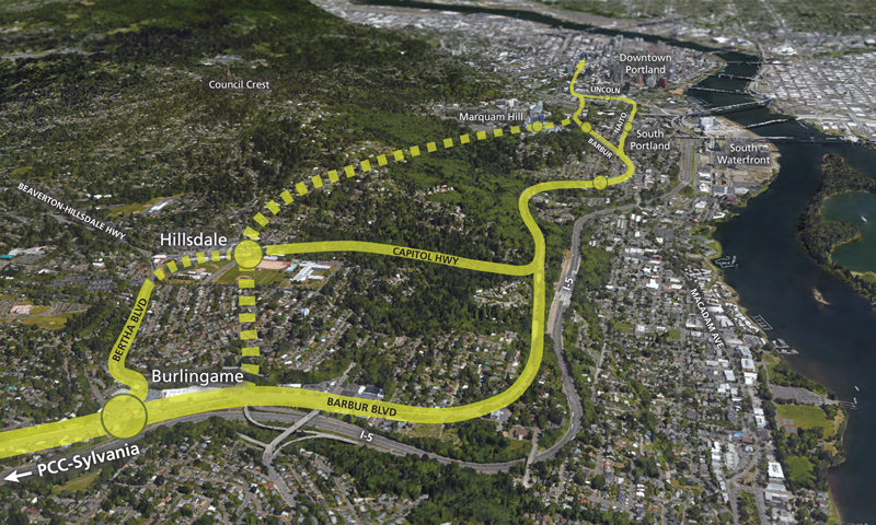 Options for high capacity transit to serve South Portland and Hillsdale