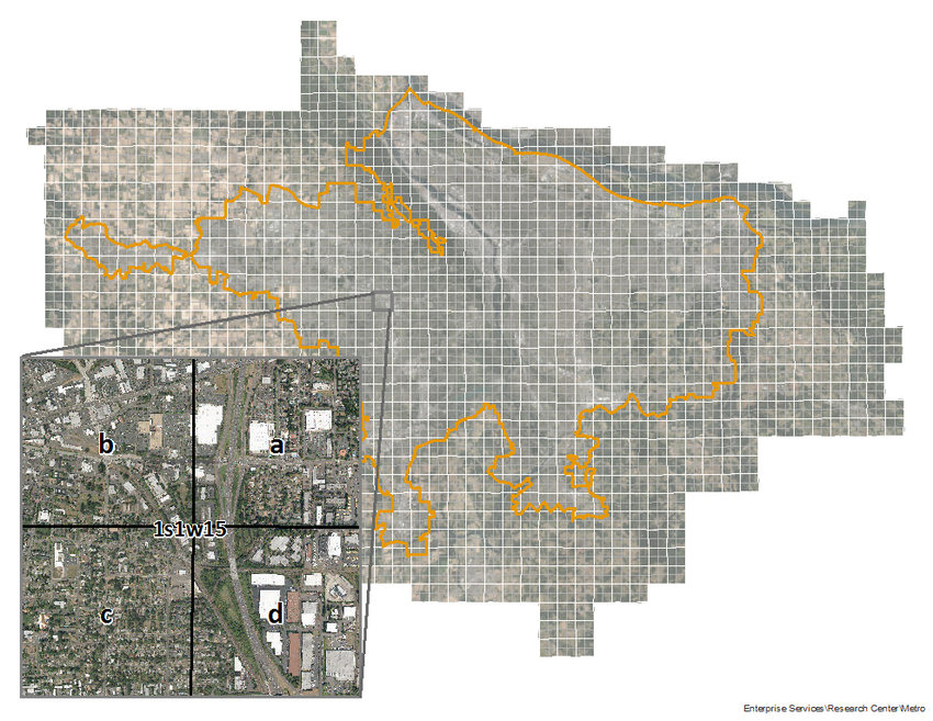 image of a map with new quarter sections
