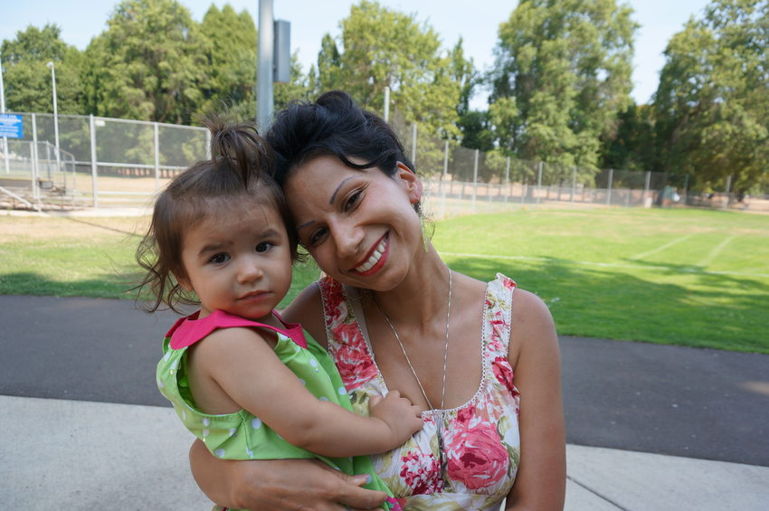 Jessica Acosta and daughter
