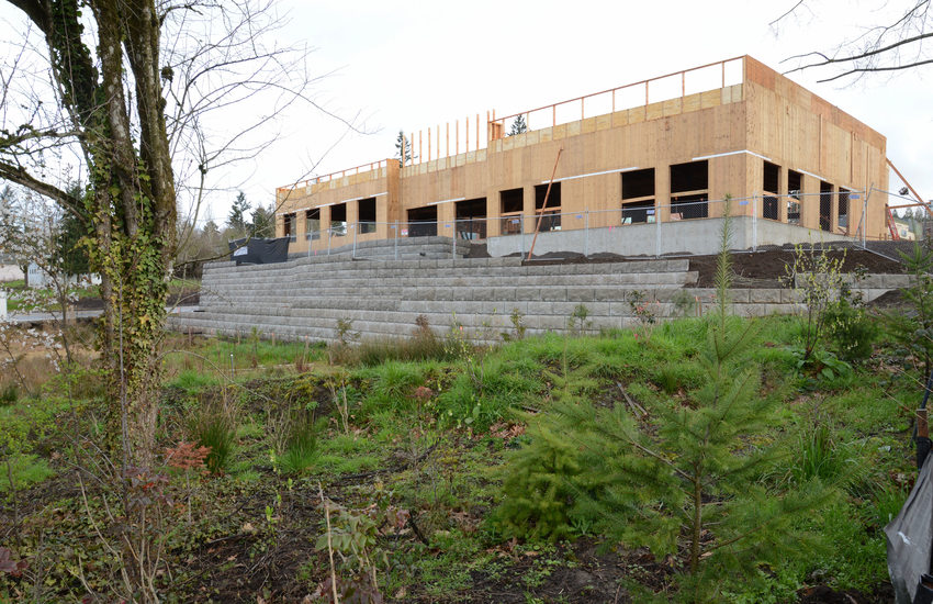 Building under construction in the Tigard Triangle