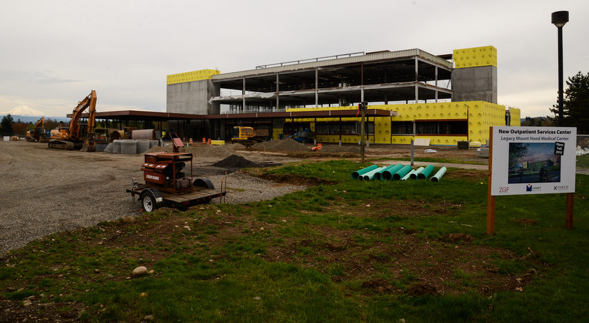 Mt Hood Medical Center construction, March 2015