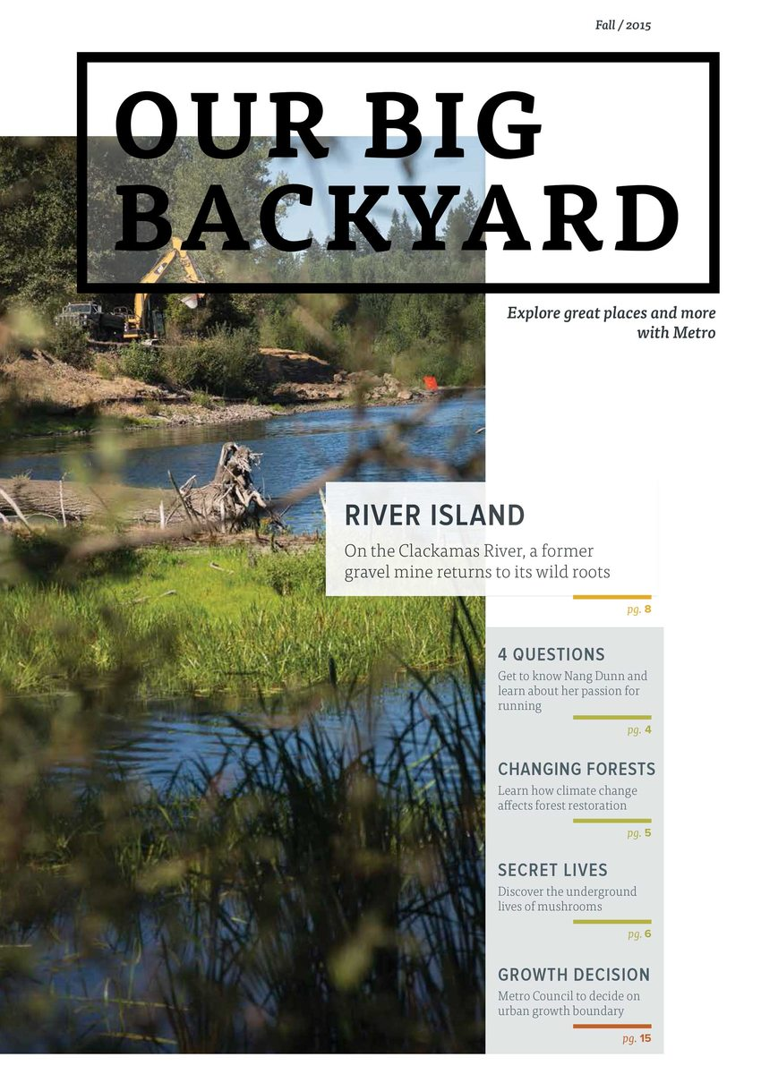 Cover of fall 2015 Our Big Backyard
