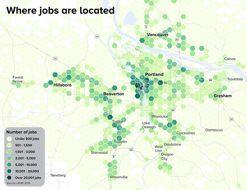 Where jobs locate map