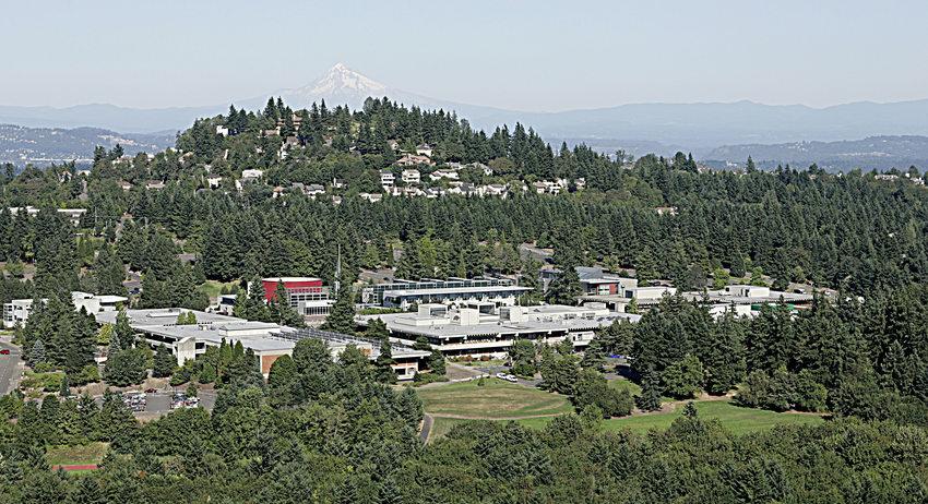 Aerial shot of PCC Sylvania