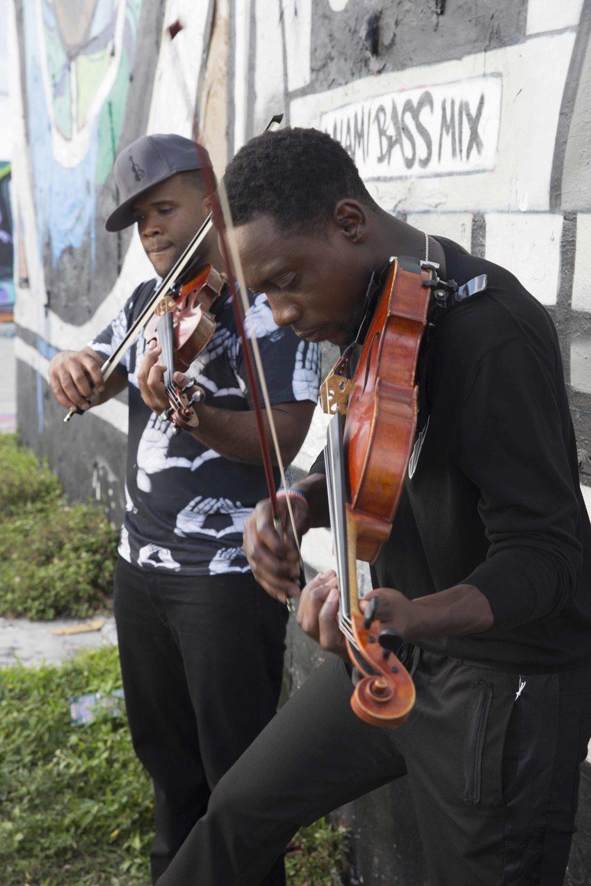 Kevin Sylvester and Wil Baptiste of Black Violin.