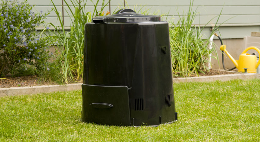 photo of the Enviroworld compost bin