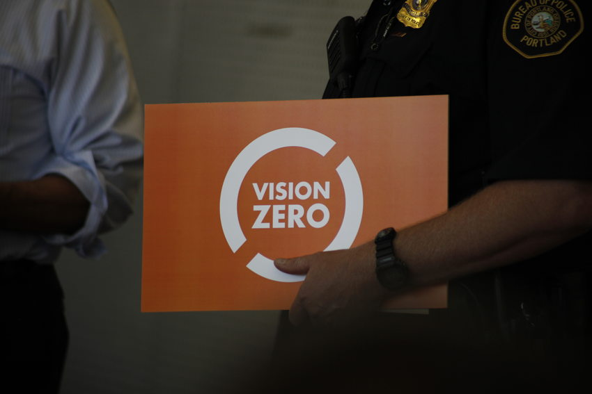 Vision Zero and police officer arm