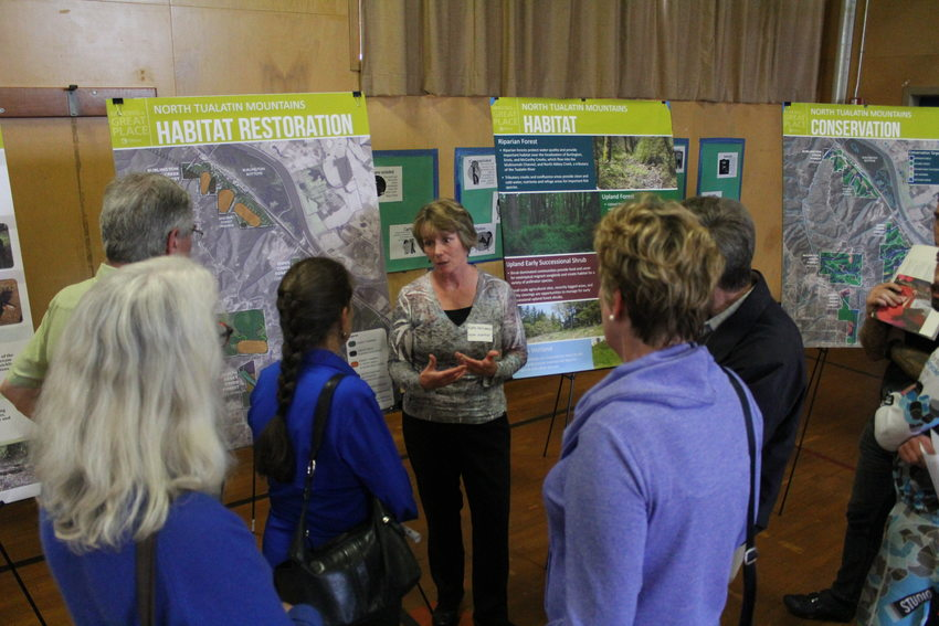 photo of North Tualatin Mountains open house in May 2015