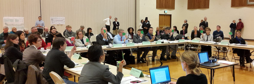 Members of the Powell-Division steering committee vote on Oct. 24, 2016