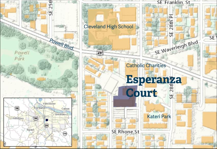 Esperanza Court map