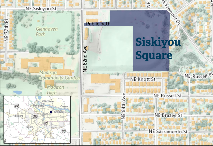 Siskiyou Square map