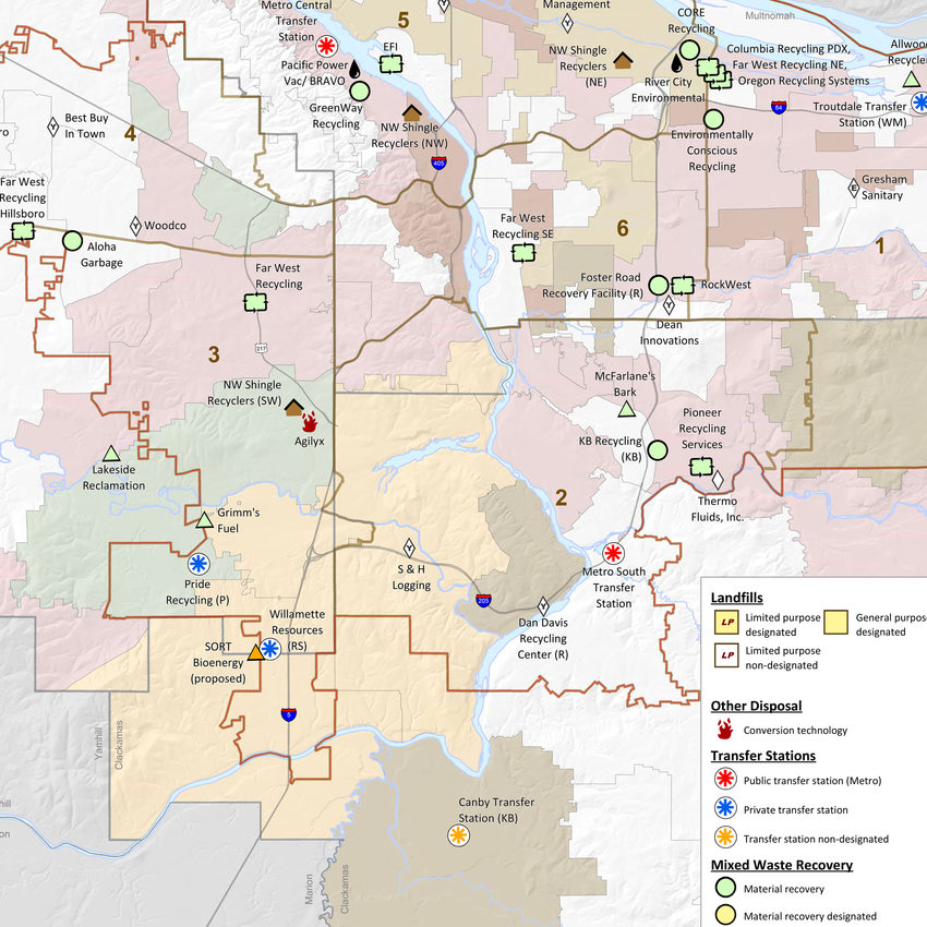 thumbnail of solid waste facilities map