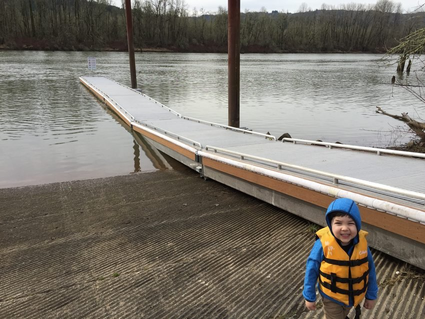 photo of new Sauvie Island Boat Ramp dock