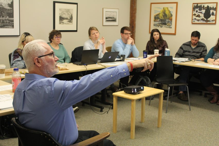 Councilor Craig Dirksen speaking to the Land Use Leadership Initiative cohort at a meeting