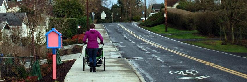 Stroller on Spring Garden Street, Southwest Portland