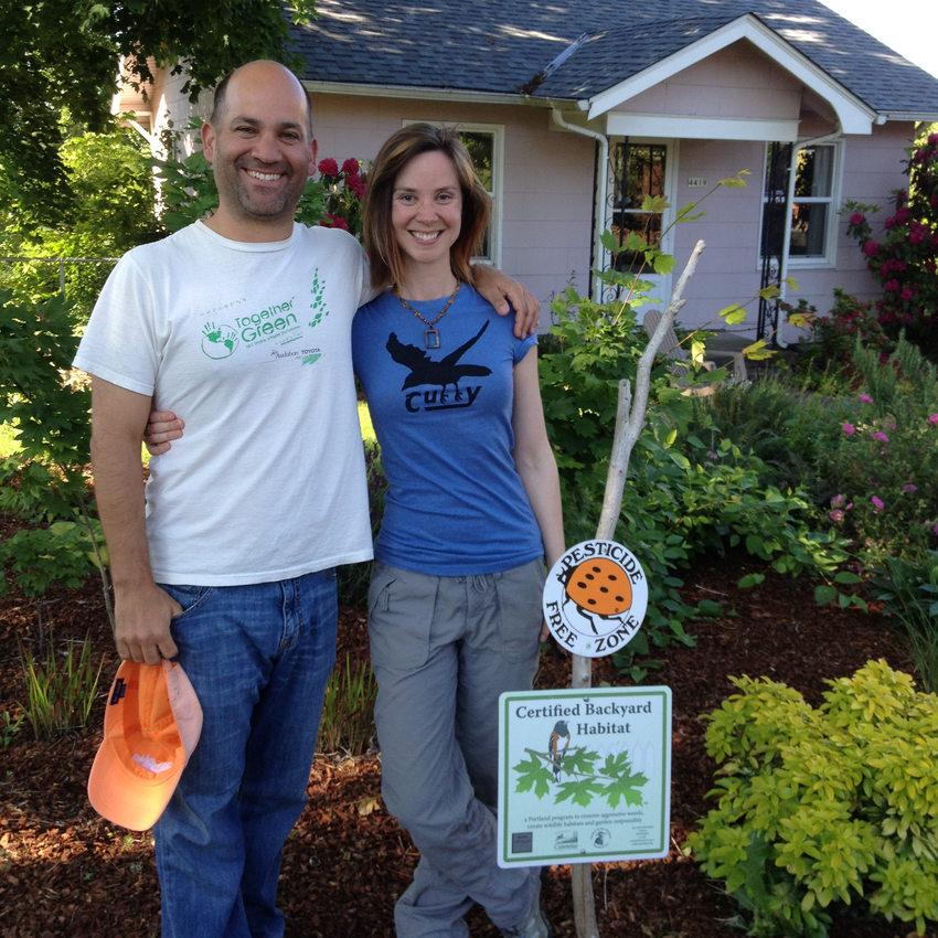 photo of a backyard habitat certified garden