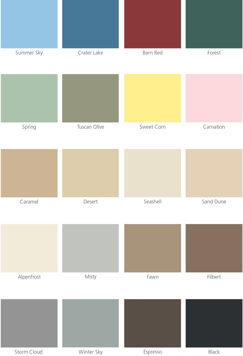 MetroPaint color card