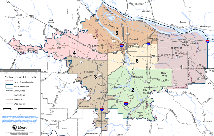 Metro Council district map